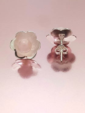 Topos Flor y Cuarzo rosa