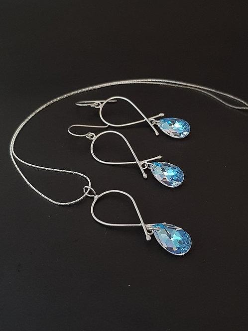 Aderezo lagrimas cristal Swarovski shimmer