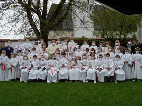 Erstkommunion der zweiten Klassen der VS St. Marein.