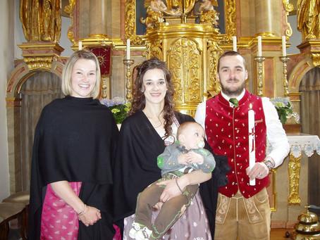 Taufe von Johannes Daniel Sträußnigg
