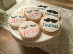 Lashes or Staches cookies