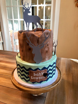 Rustic Stag Baby Cake