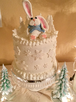 Winter Bunny Cake