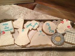 Something Blue Wedding Cookie Designs