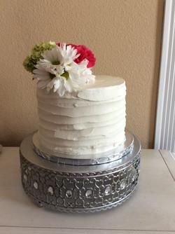 Rustic & Flowers birthday Cake