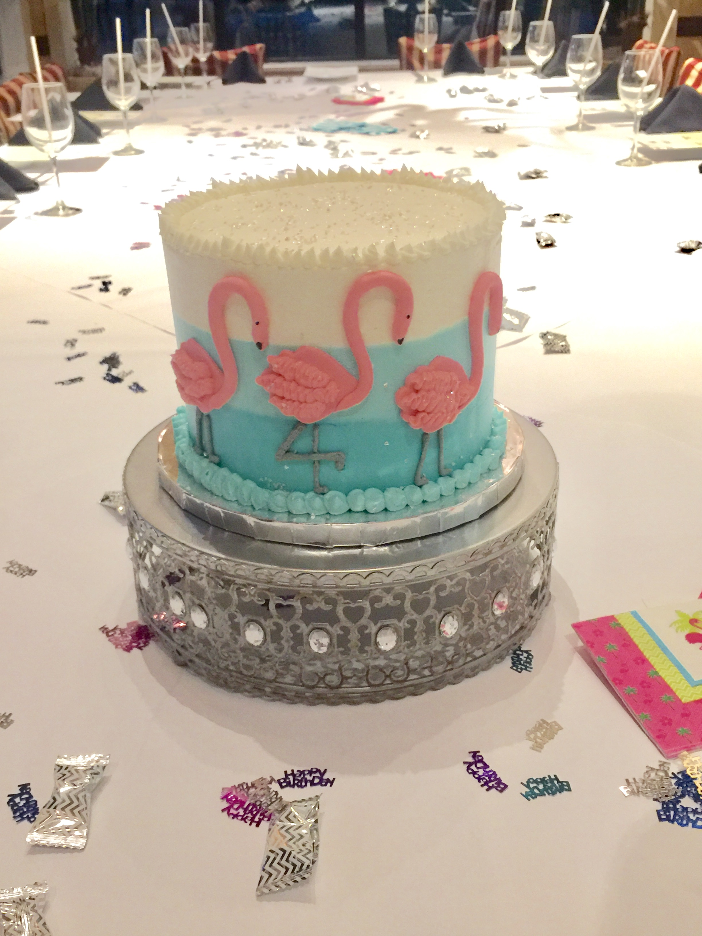 Fancy Flamingos cake