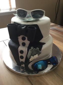 Sharp dressed man tuxedo cake