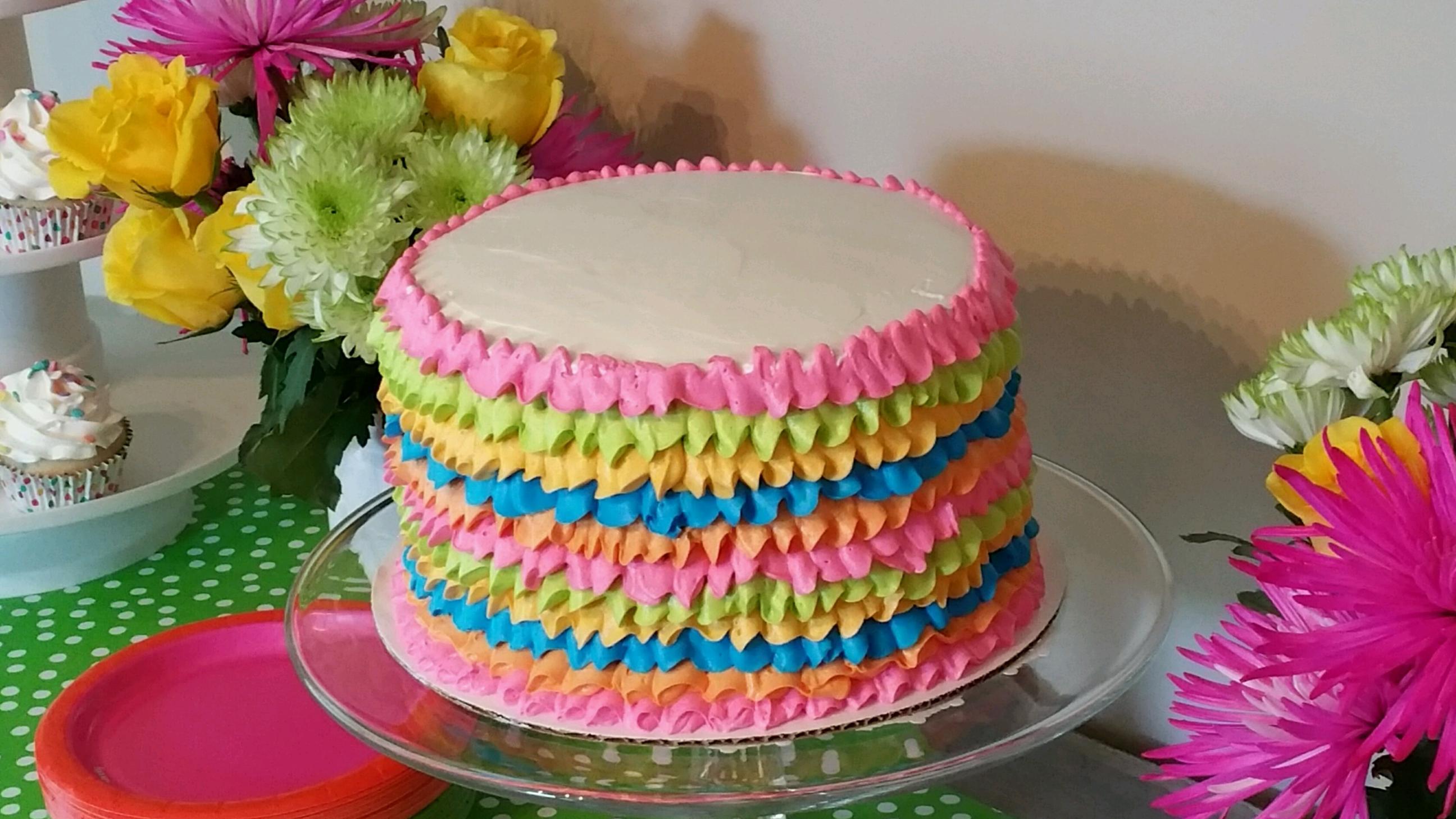 Fiesta Ruffles Cakes