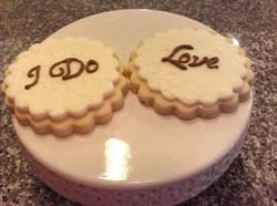 Rustic wedding message cookies