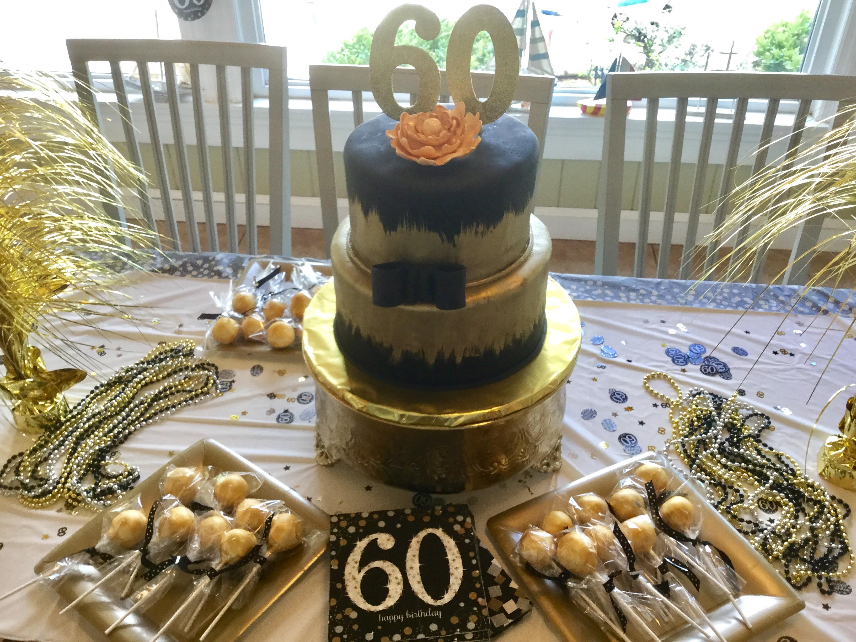 Glam Black & Gold Cake