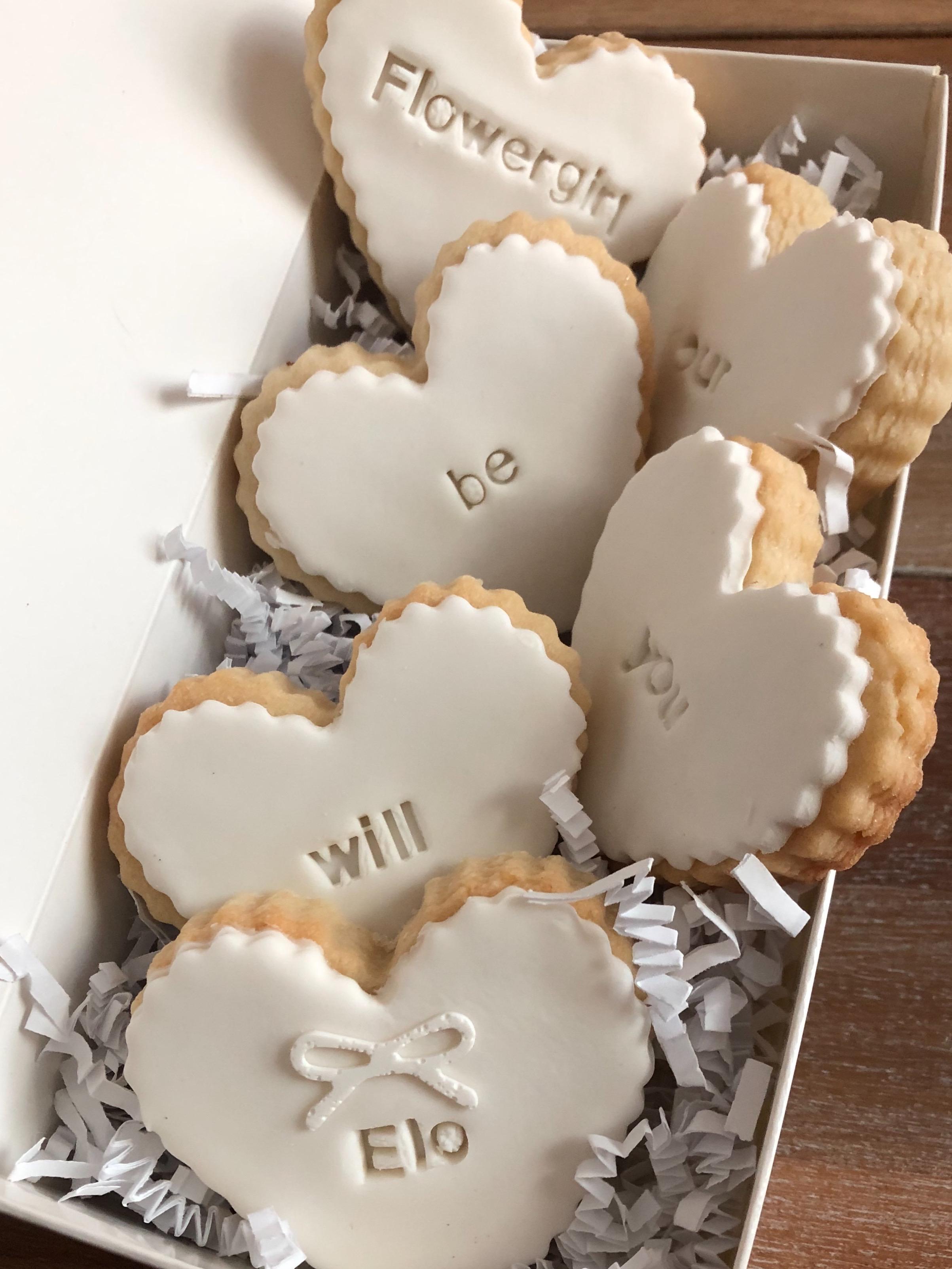 Be My Bridesmaid/Flower girl mini heart