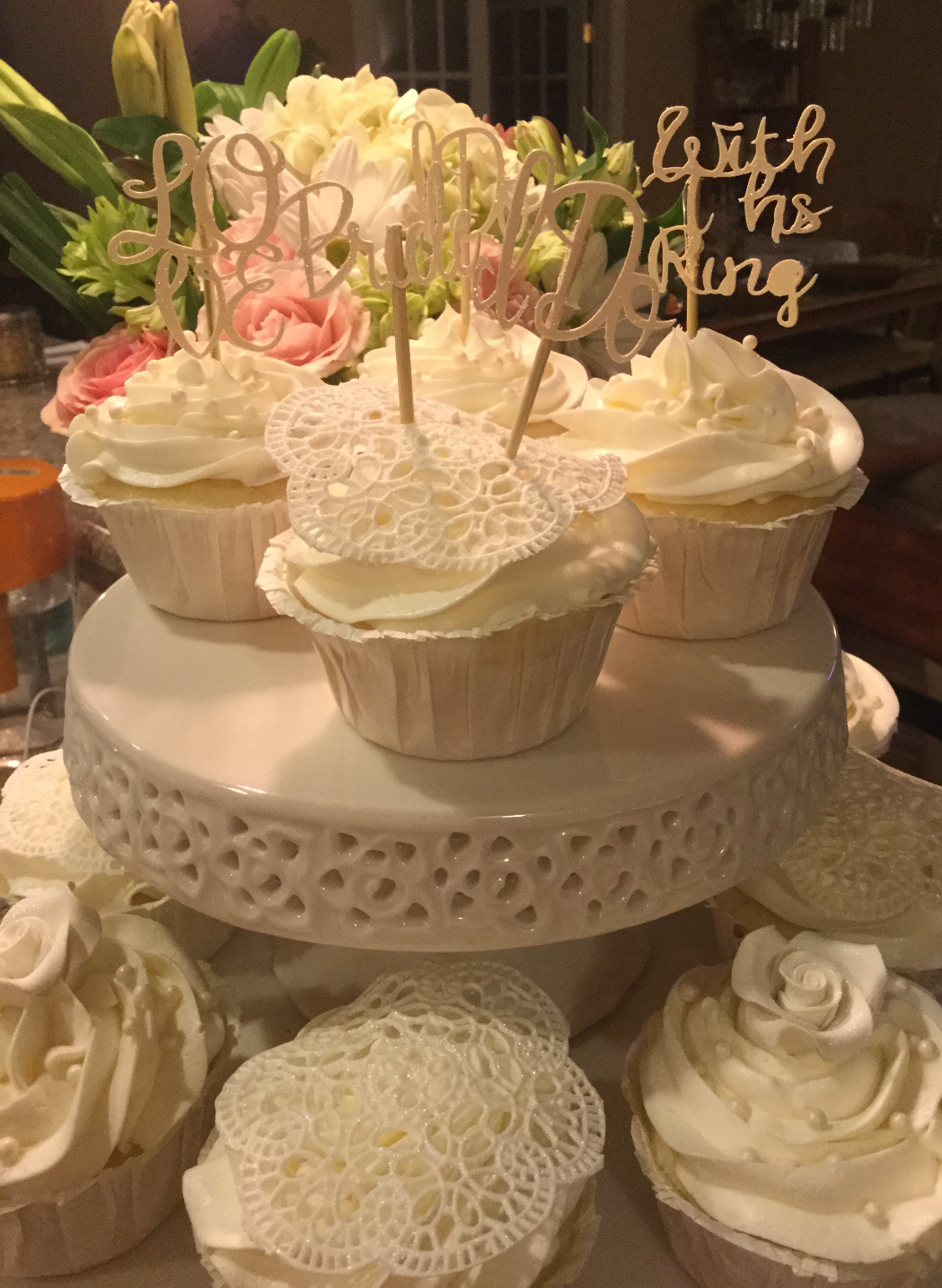 Bridal roses & l