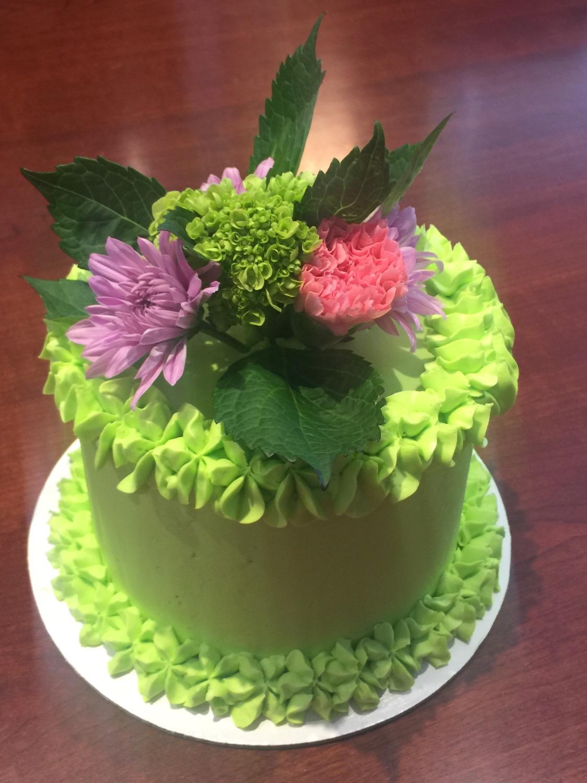 Spring green & flowers