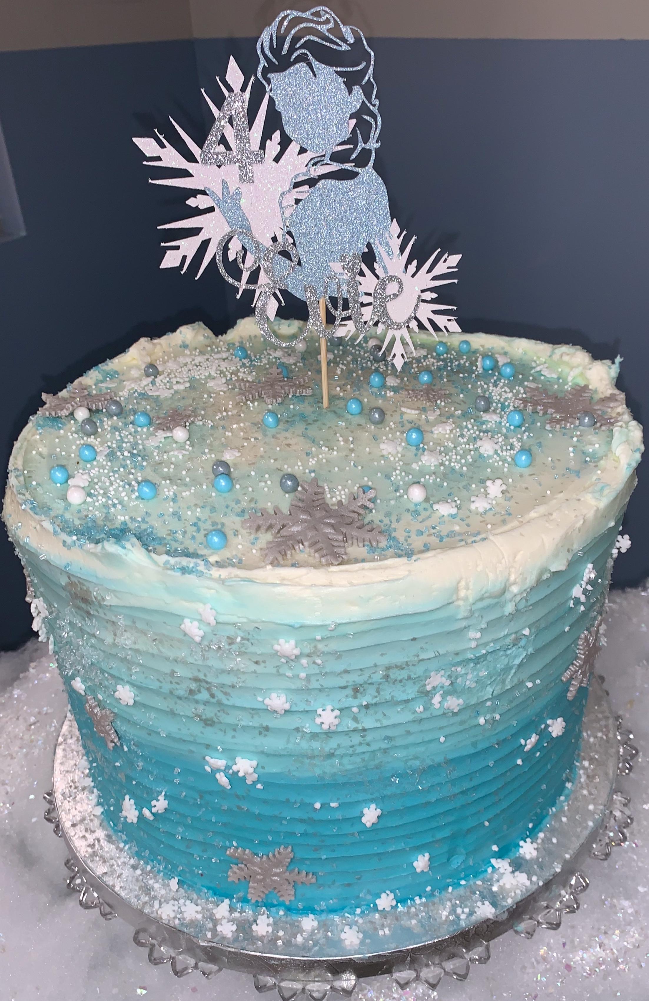 Frozen Ombre' Cake