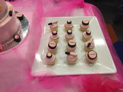MAC makeup cupcake toppers