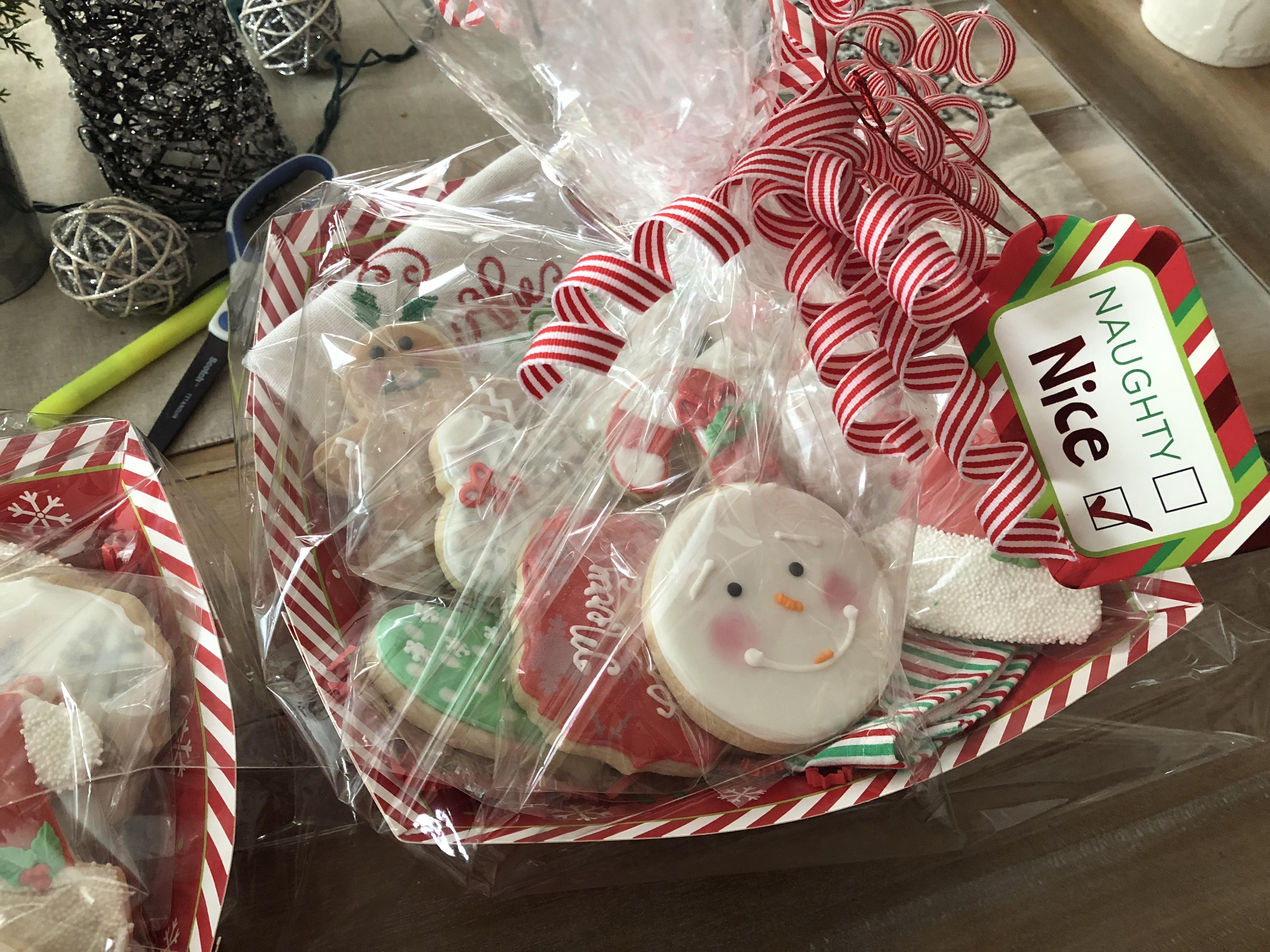Christmas cookie basket