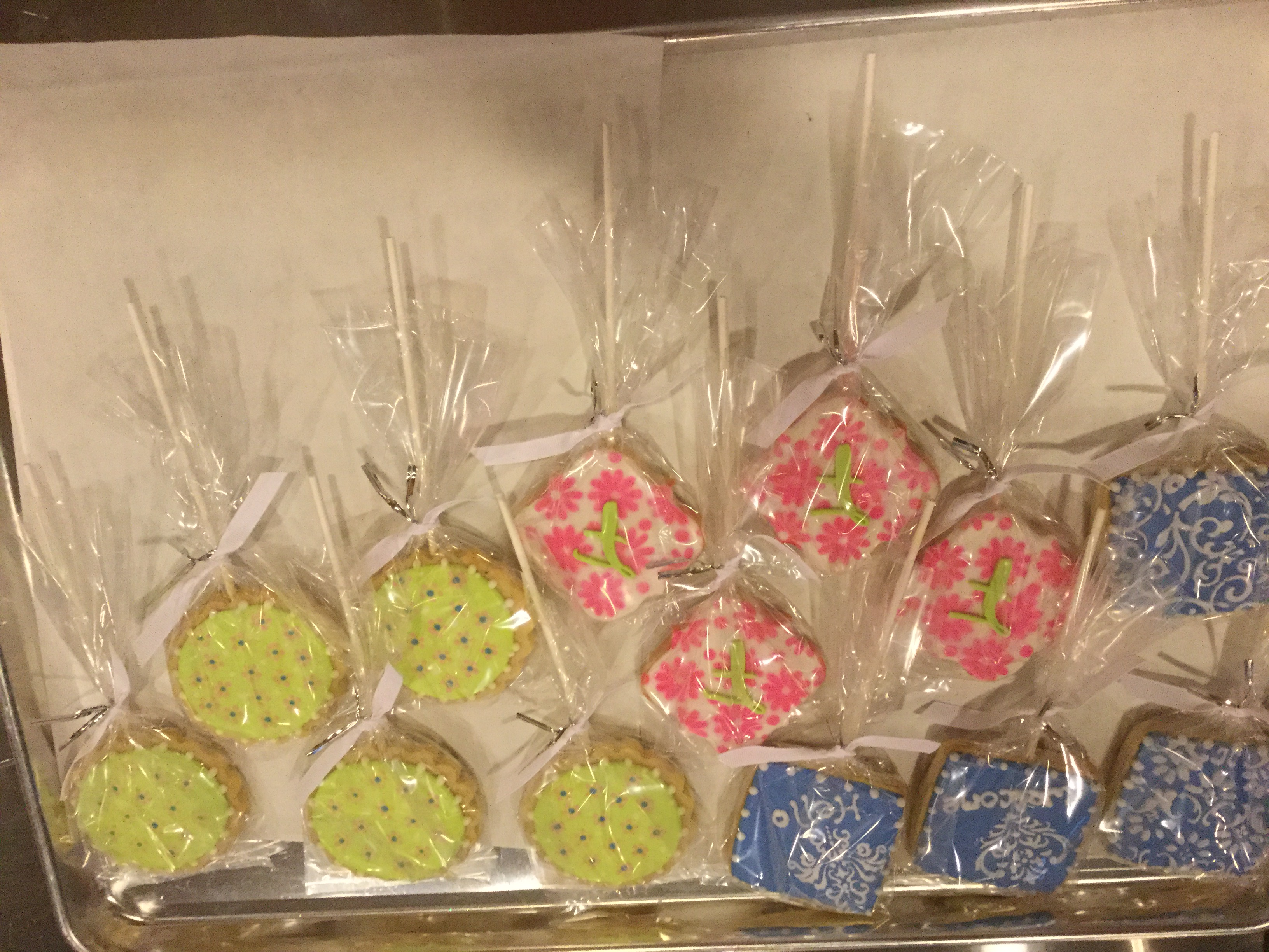 Summer cookie bouquet  cookies