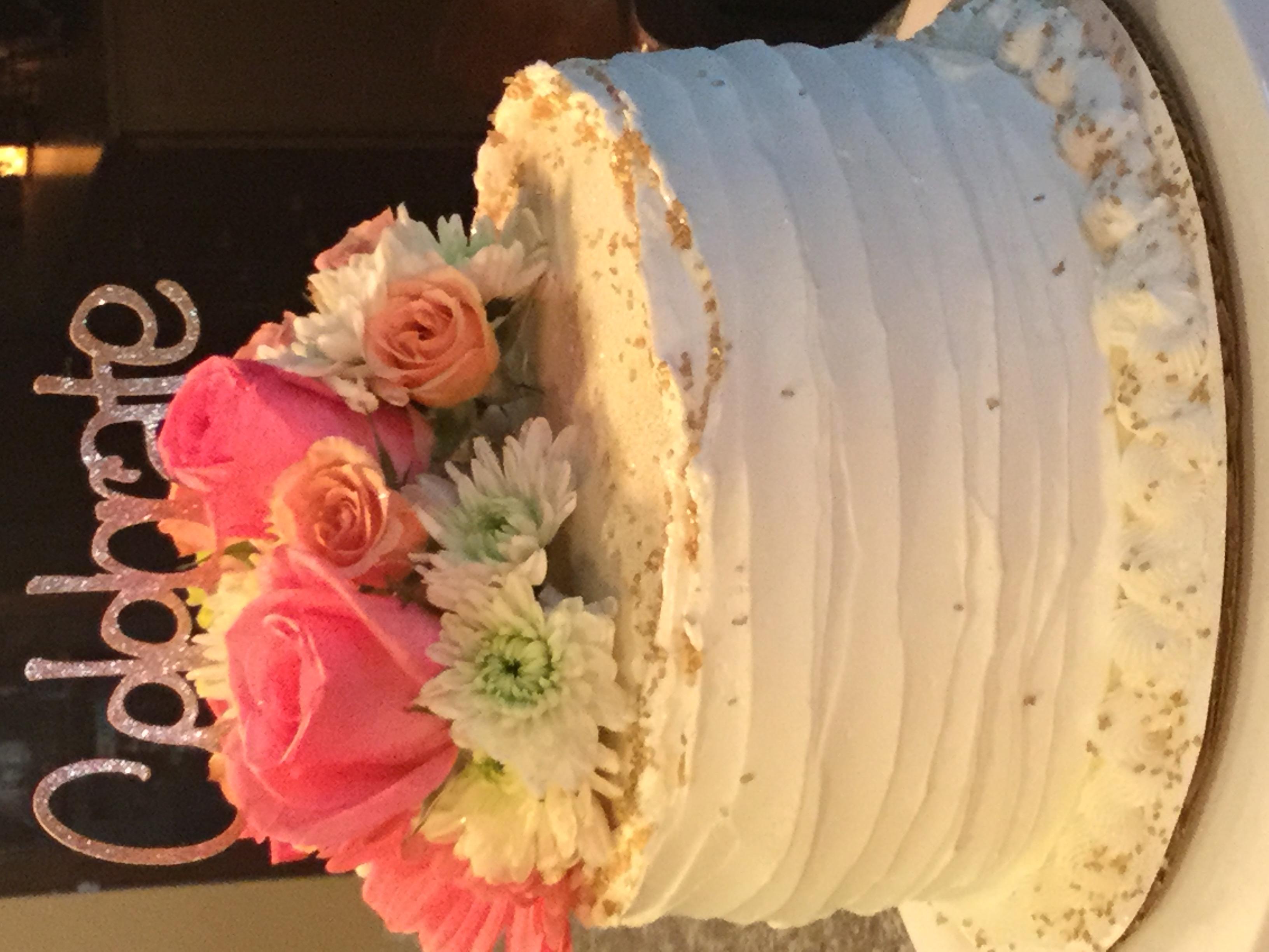 Flowers & Sparkle Cake