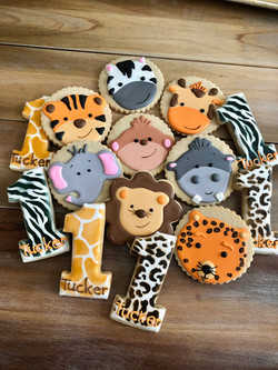 Safari_Zoo themed cookie collection
