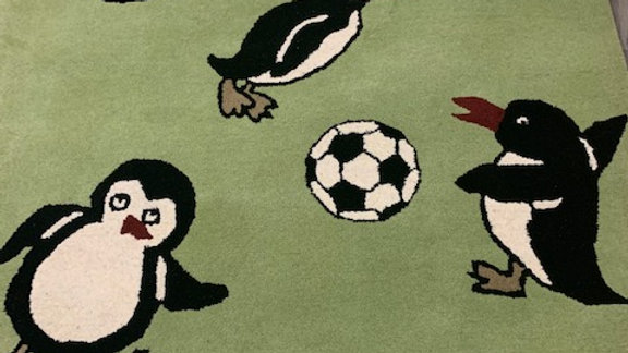 Penguin Football Childrens Rug