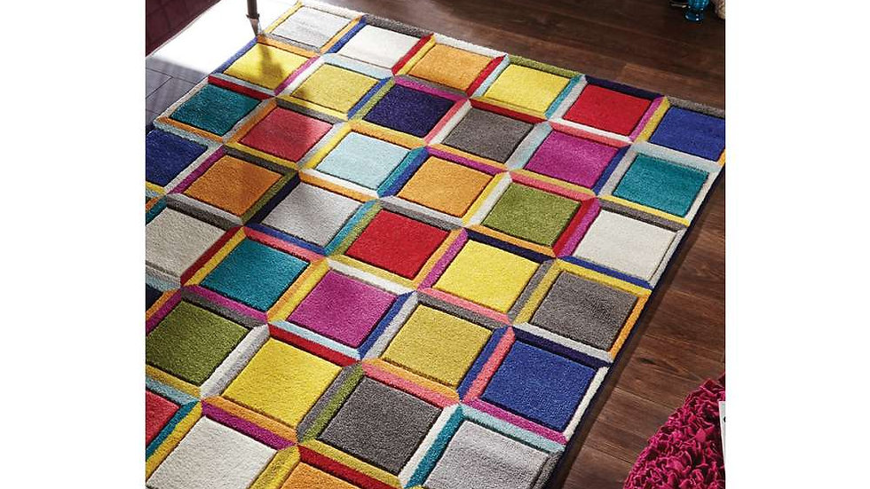 Spectrum Waltz multi coloured Quality Fireside Rug