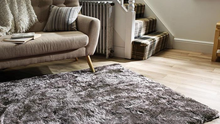Serenity Silver Shaggy pile Quality Fireside Rug