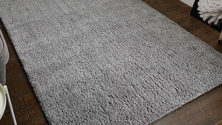 Sherwood Darwin Grey Shaggy pile Quality Fireside Rug