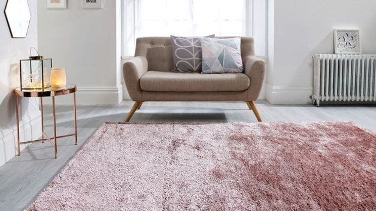 Serenity Pink Shaggy pile Quality Fireside Rug
