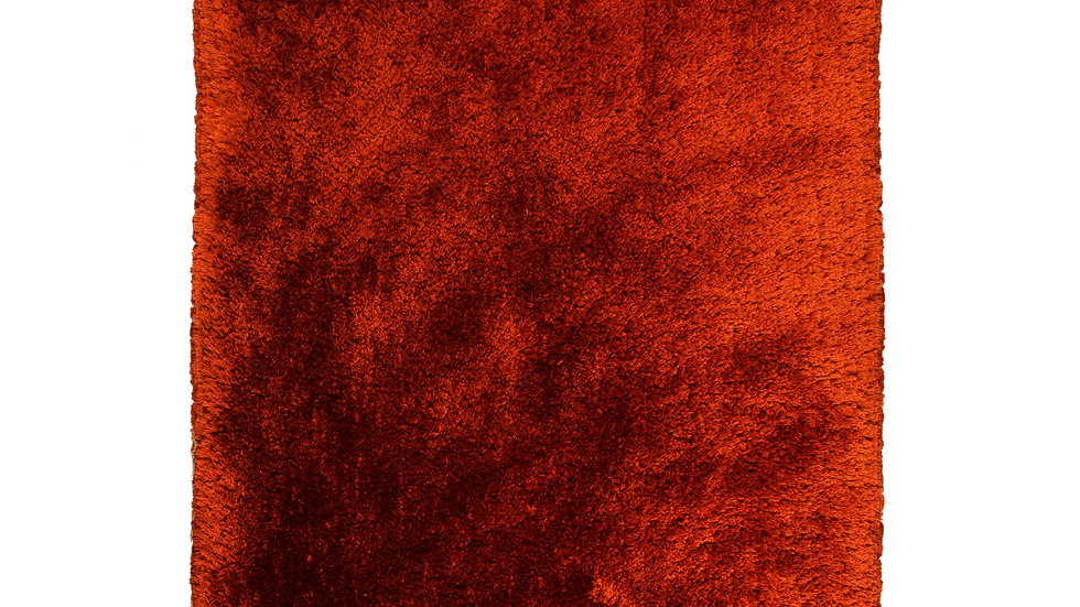Pearl Rust Shaggy pile Quality Fireside Rug