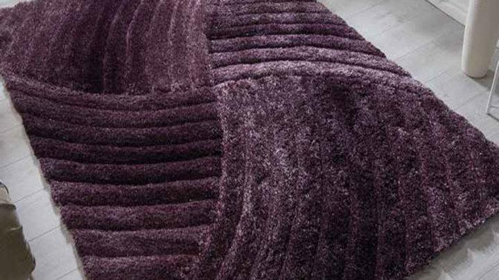 Verge Furrow Purple Modern Quality Fireside Rug