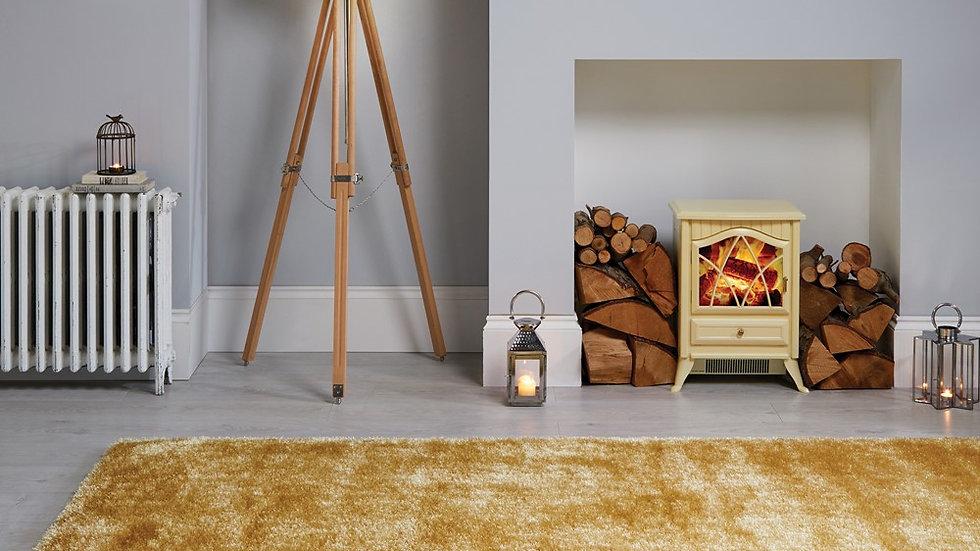 Velvet Ochre Modern Quality Fireside Rug