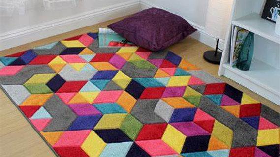 Spectrum Dynamic multi coloured Quality Fireside Rug