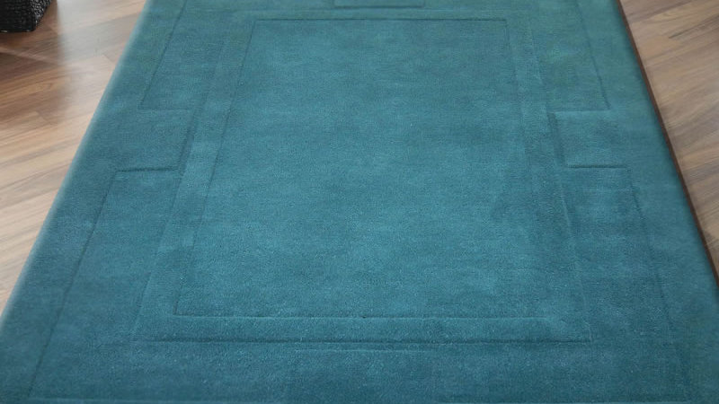 Sierra Apollo Teal Modern Quality Fireside Thick Wool Rug