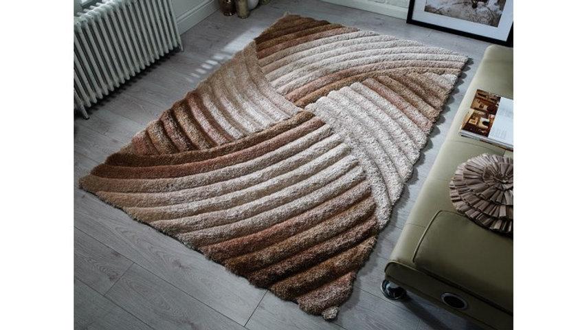 Verge Furrow Natural Modern Quality Fireside Rug
