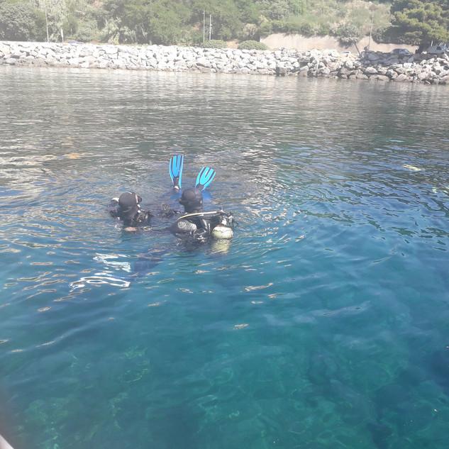 Préparation baptême - Club de plongée bastiais