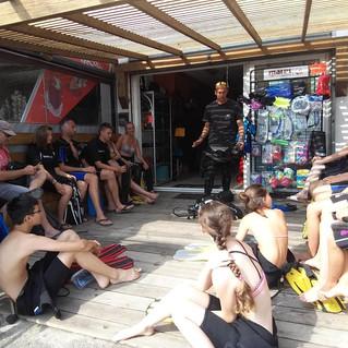 Briefing Baptême - Club de plongée Bastiais