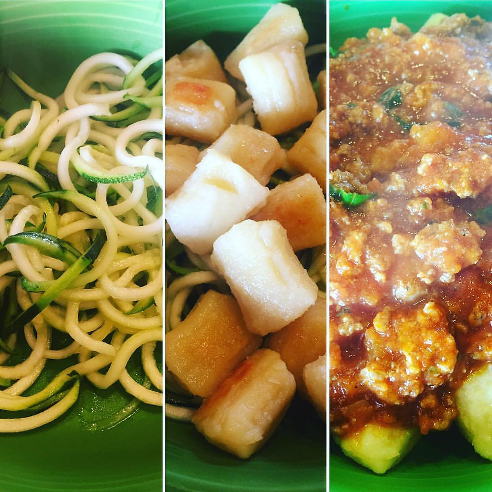 Gluten-Free/Paleo Pasta with Beef, Sausage and Veggie Marinara