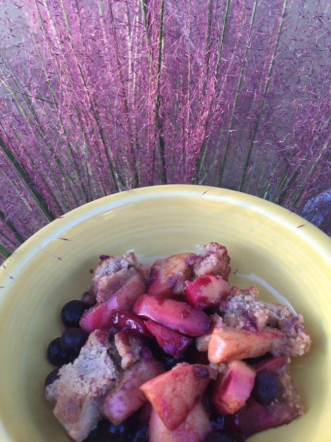 Recipe Inspiration of the Day : Sunset Apple Blueberry Crisp