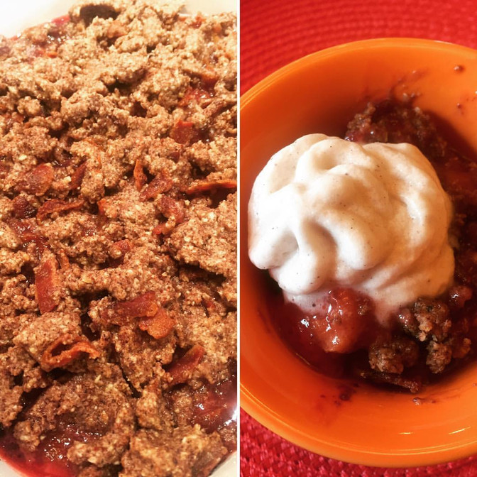 Awesome Recipe Alert: Bacon Berry Peach Crisp