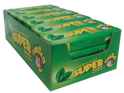 Embalagem Super Gorila Chicletes Sabor Menta - 24 unidades