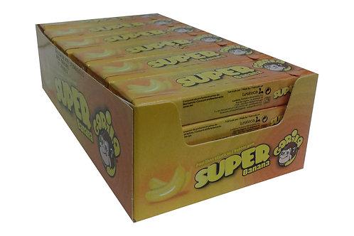 Embalagem Super Gorila Chicletes Sabor Banana - 24 unidades