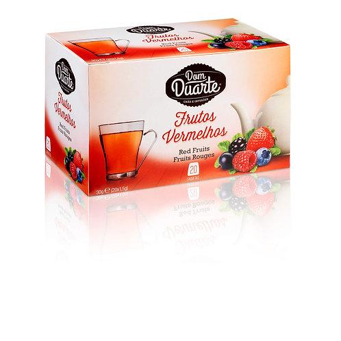 Chá Frutos Vermelhos Dom Duarte caixa c/ 20 saquinhos
