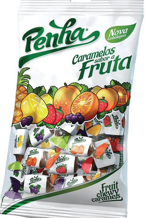 Embalagem Penha Caramelos Frutas 100g