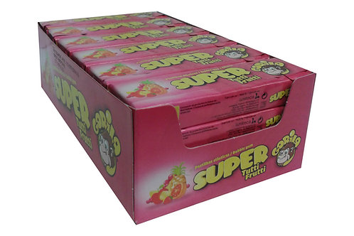 Embalagem Super Gorila Chicletes Sabor Tutti Frutti - 24 unidades