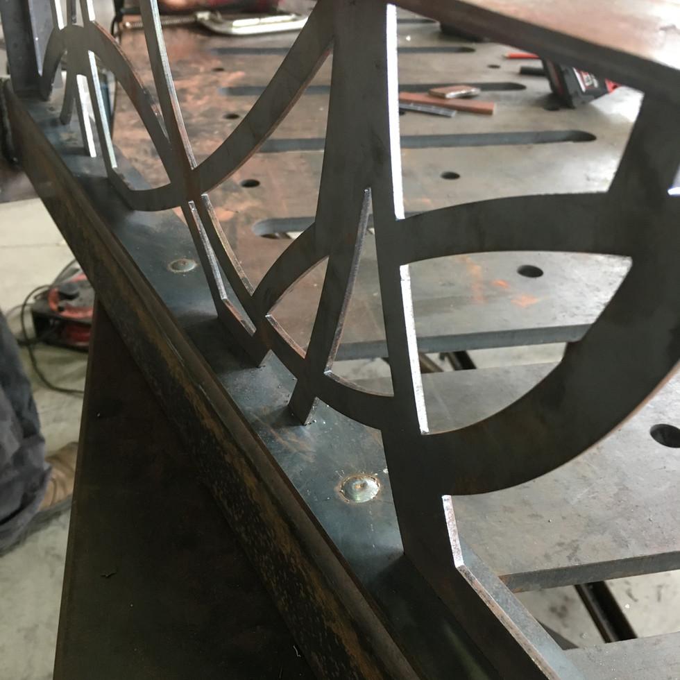 Custom steel fretwork by Billy Moore