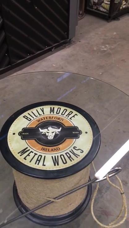 Spool of Thread Coffee Table by Billy Moore Metal Works