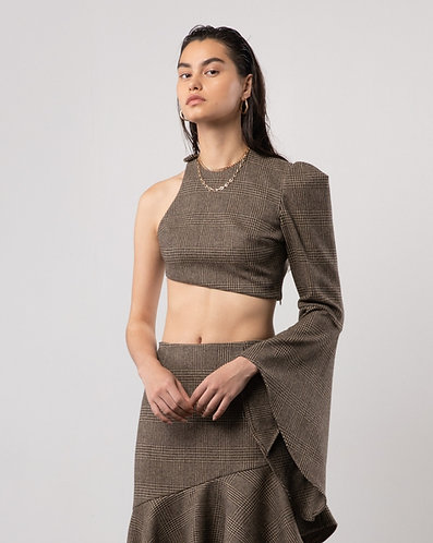 ASYMMETRIC ONE SHOULDER CROP TOP