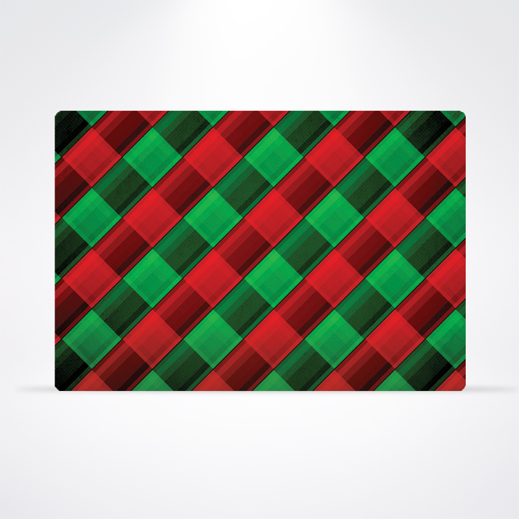 Paper Placemat - Holiday Plaid