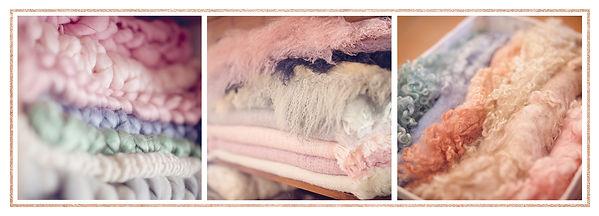 Newborn Studio Props - Merino Blankies & Sheep Wool