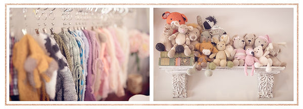 Newborn Studio Props - Outfits & Cuddle Toys